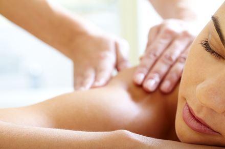 Woman receiving a relaxing massage