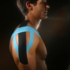 how to use k-tape on a shoulder